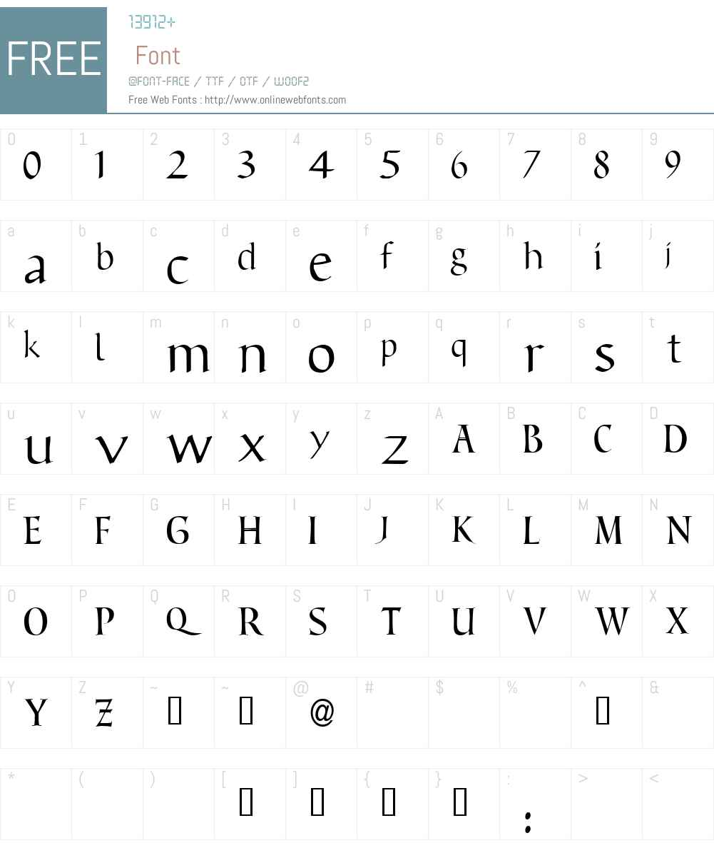 Benevento! Font Screenshots