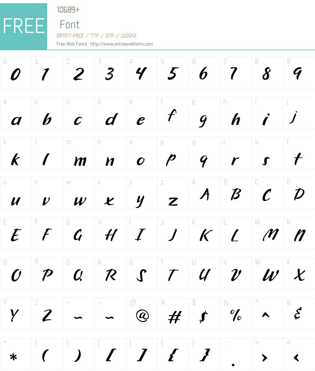 CK Thick Brush Font Screenshots