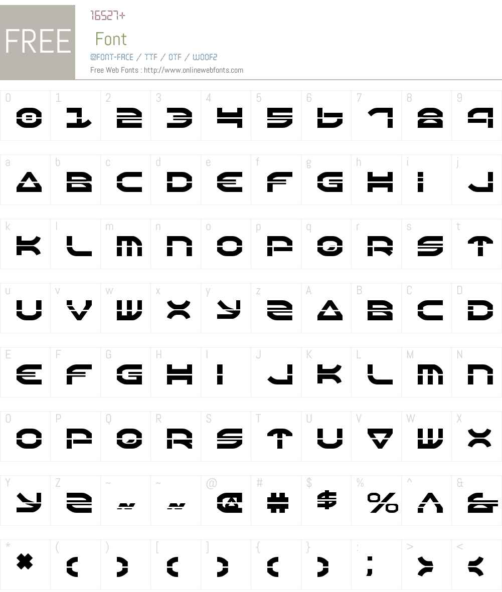 Oberon Laser Font Screenshots