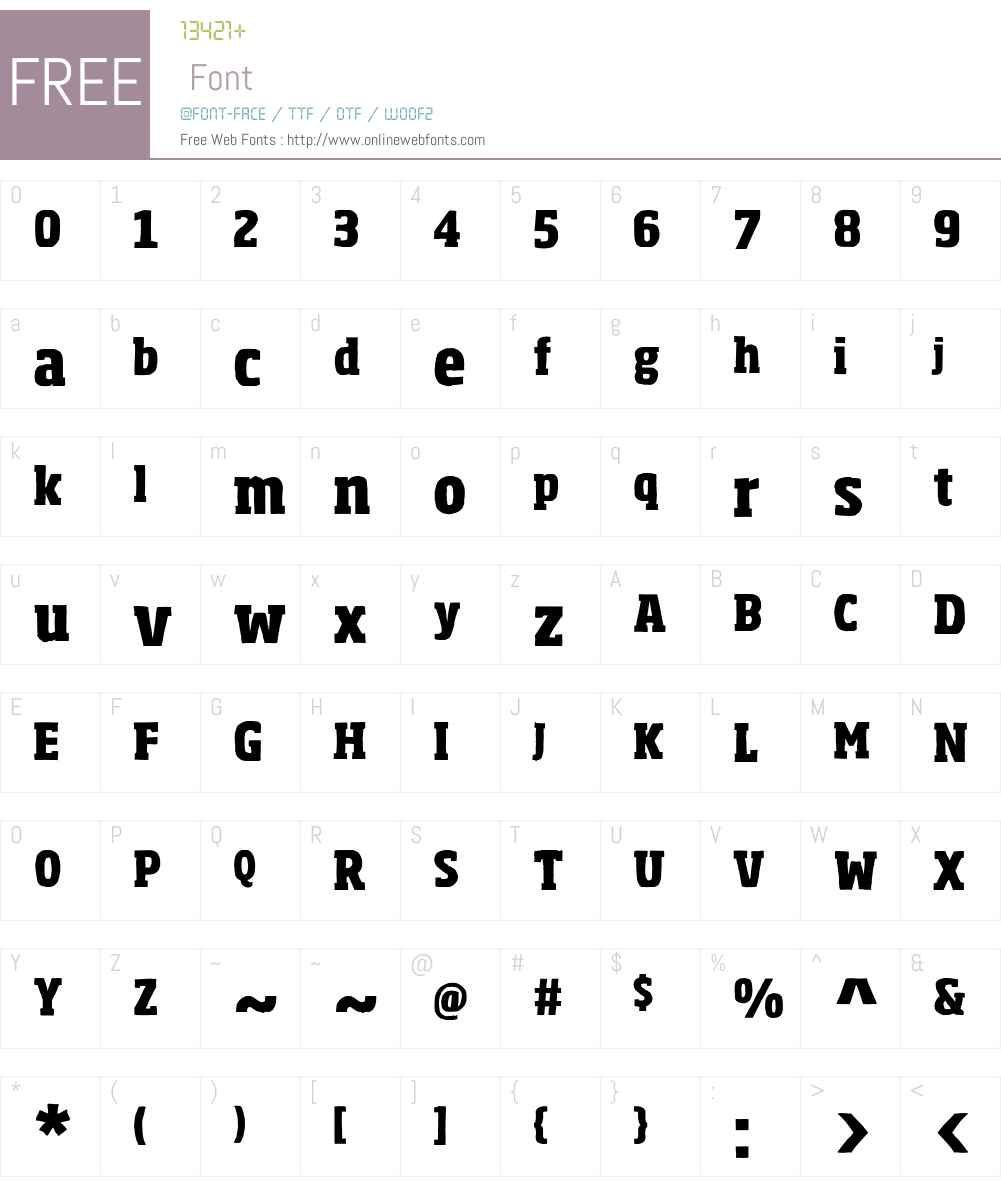 Sohoma Font Screenshots