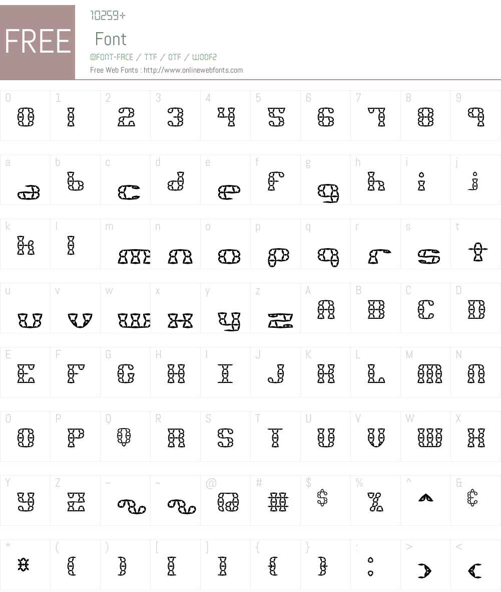 Brass Knuckle Star BRK Font Screenshots