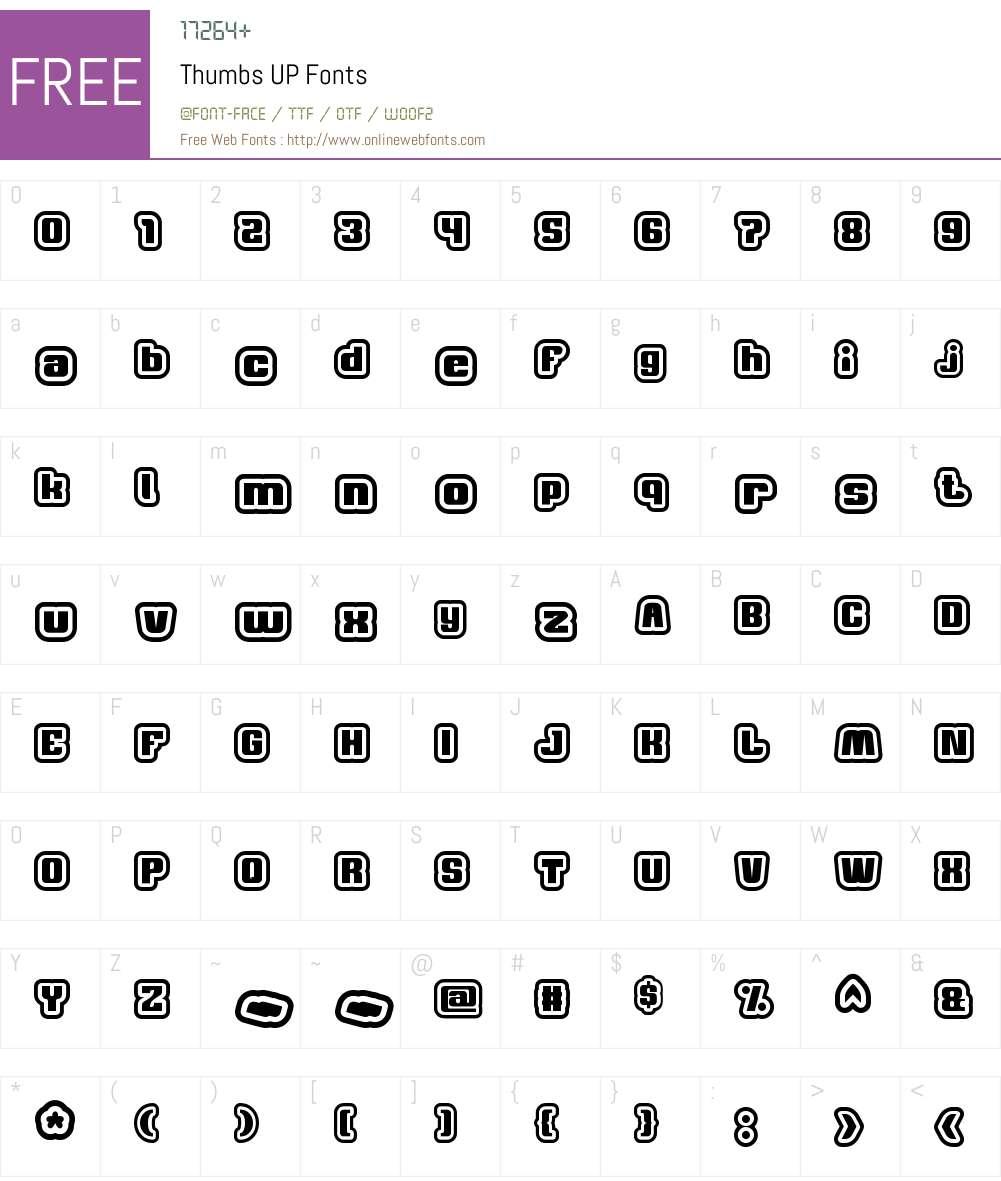 Thumbs UP Font Screenshots
