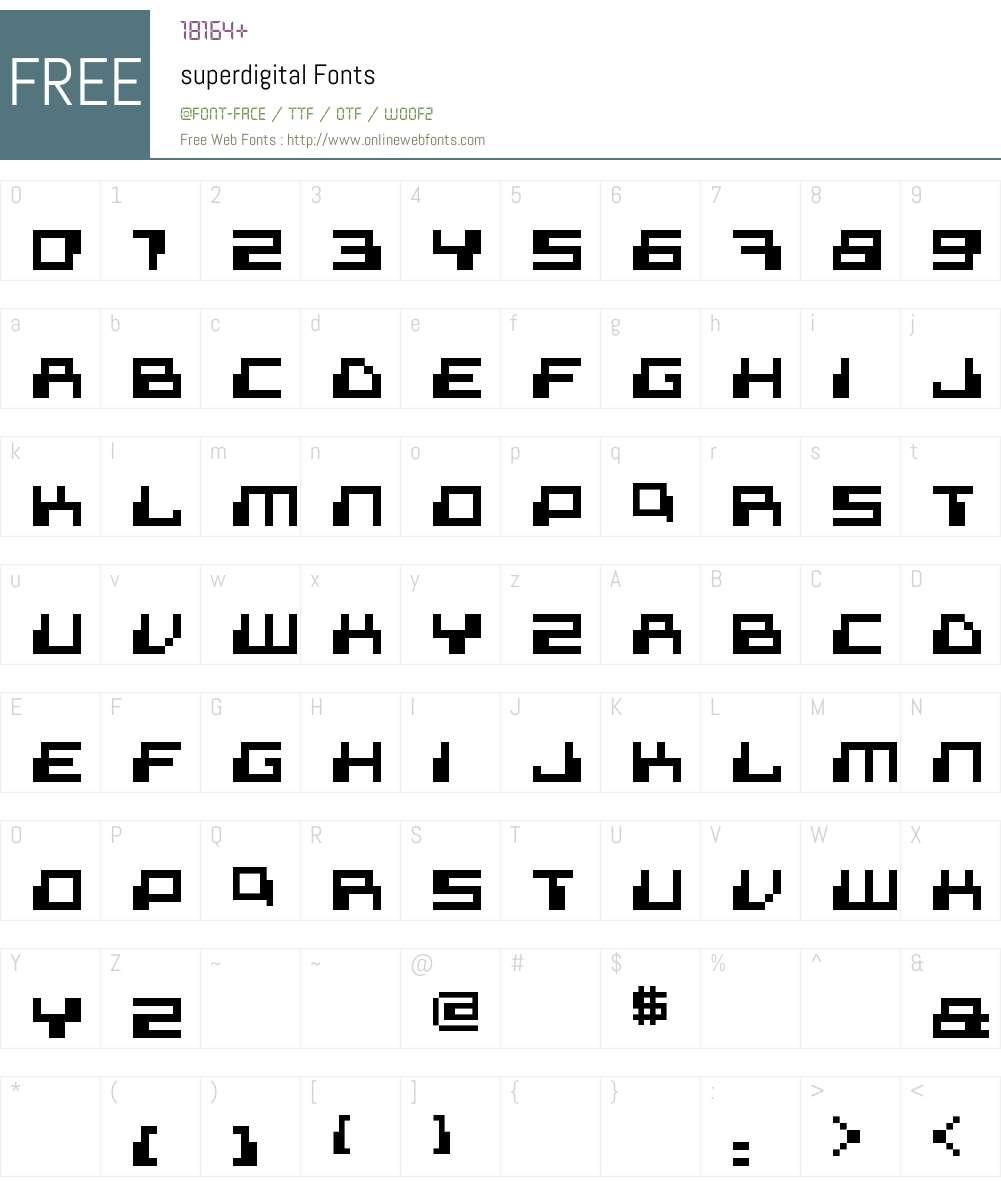 superdigital Font Screenshots