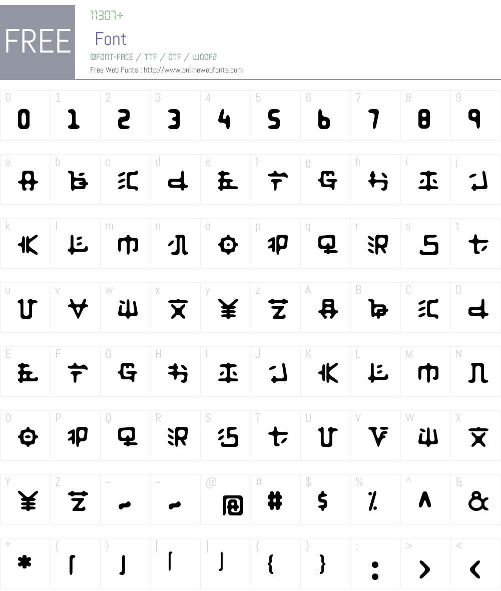 Anyong Font Screenshots