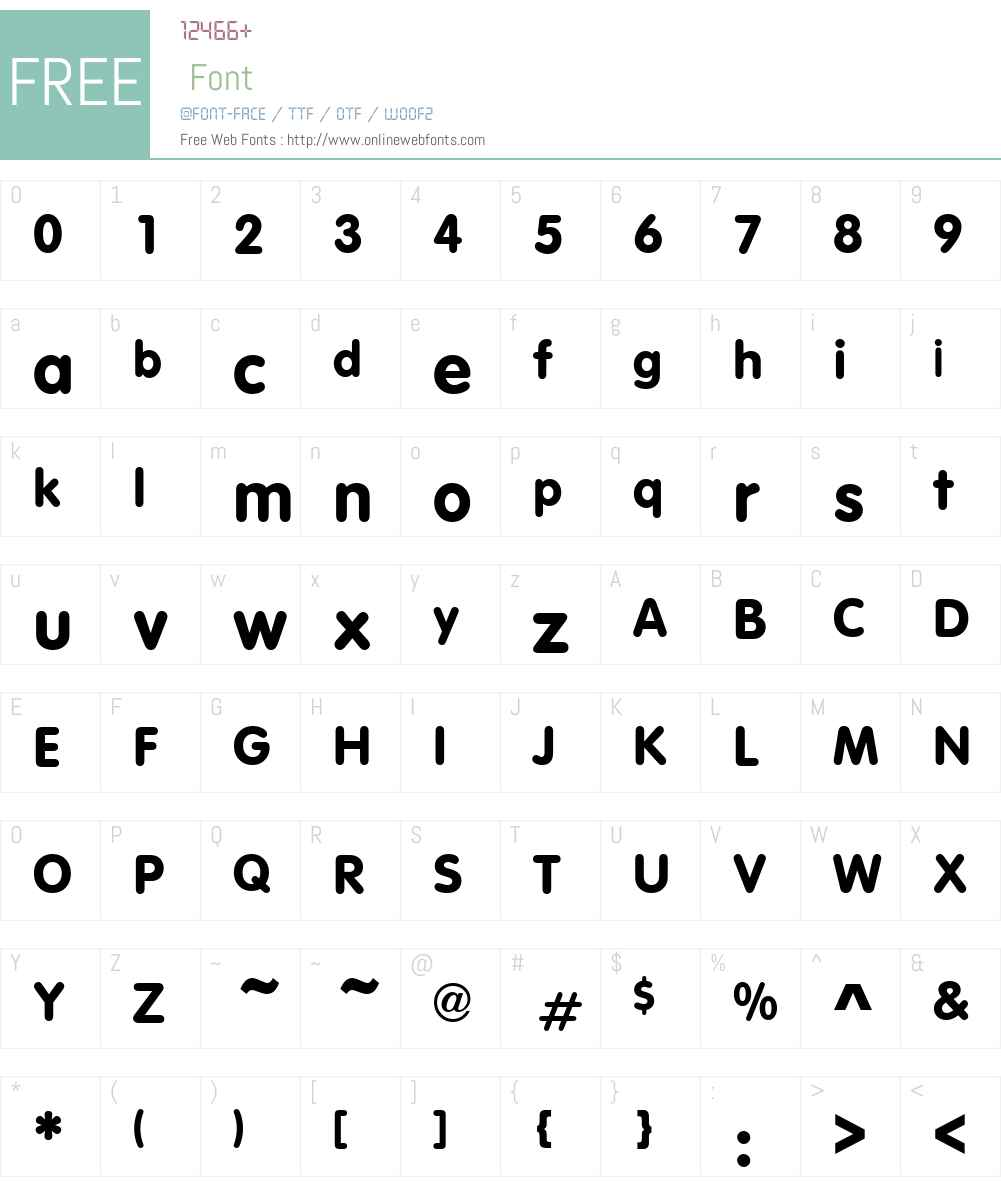 VAGRounded Font Screenshots