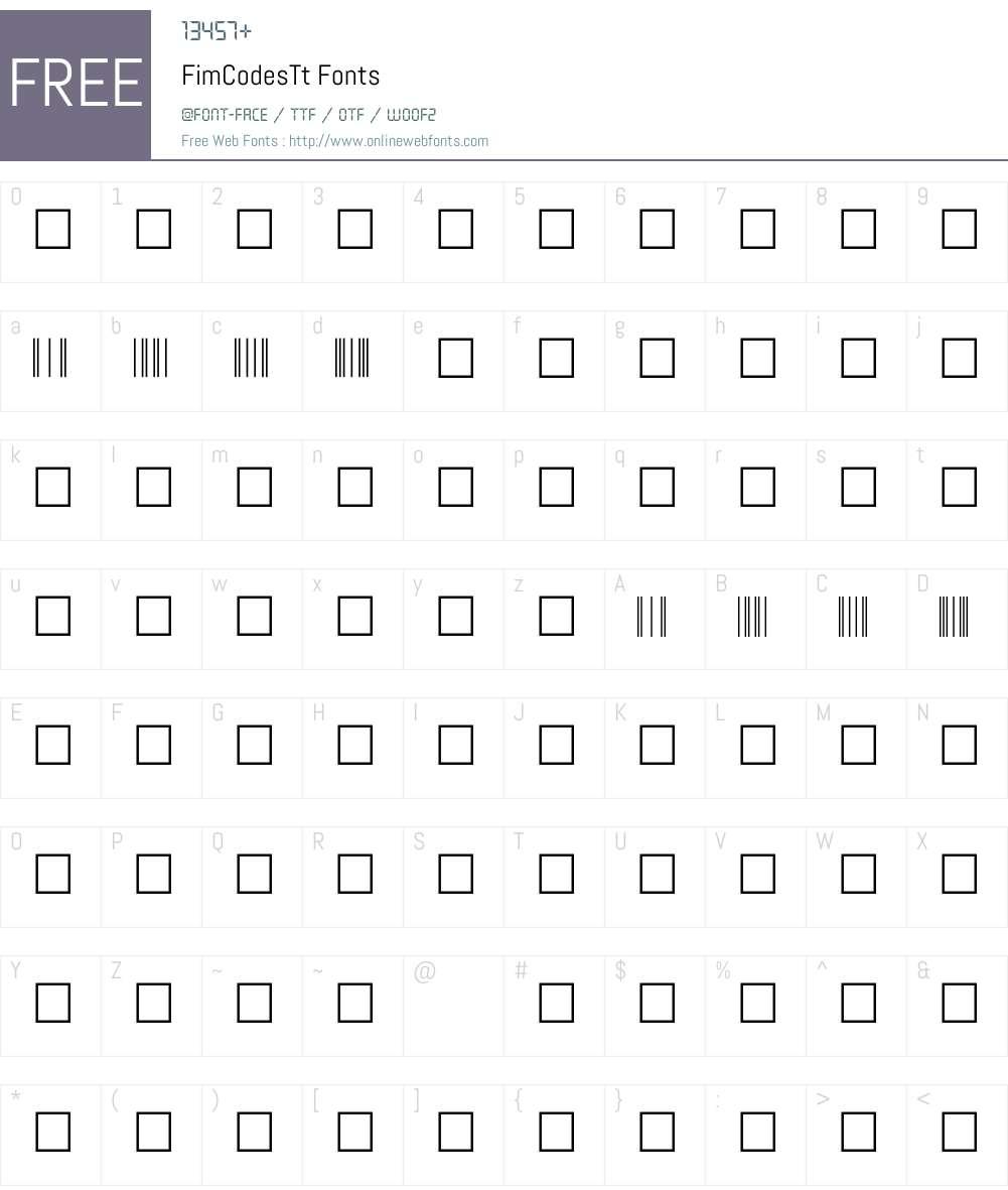 FimCodesTt Font Screenshots