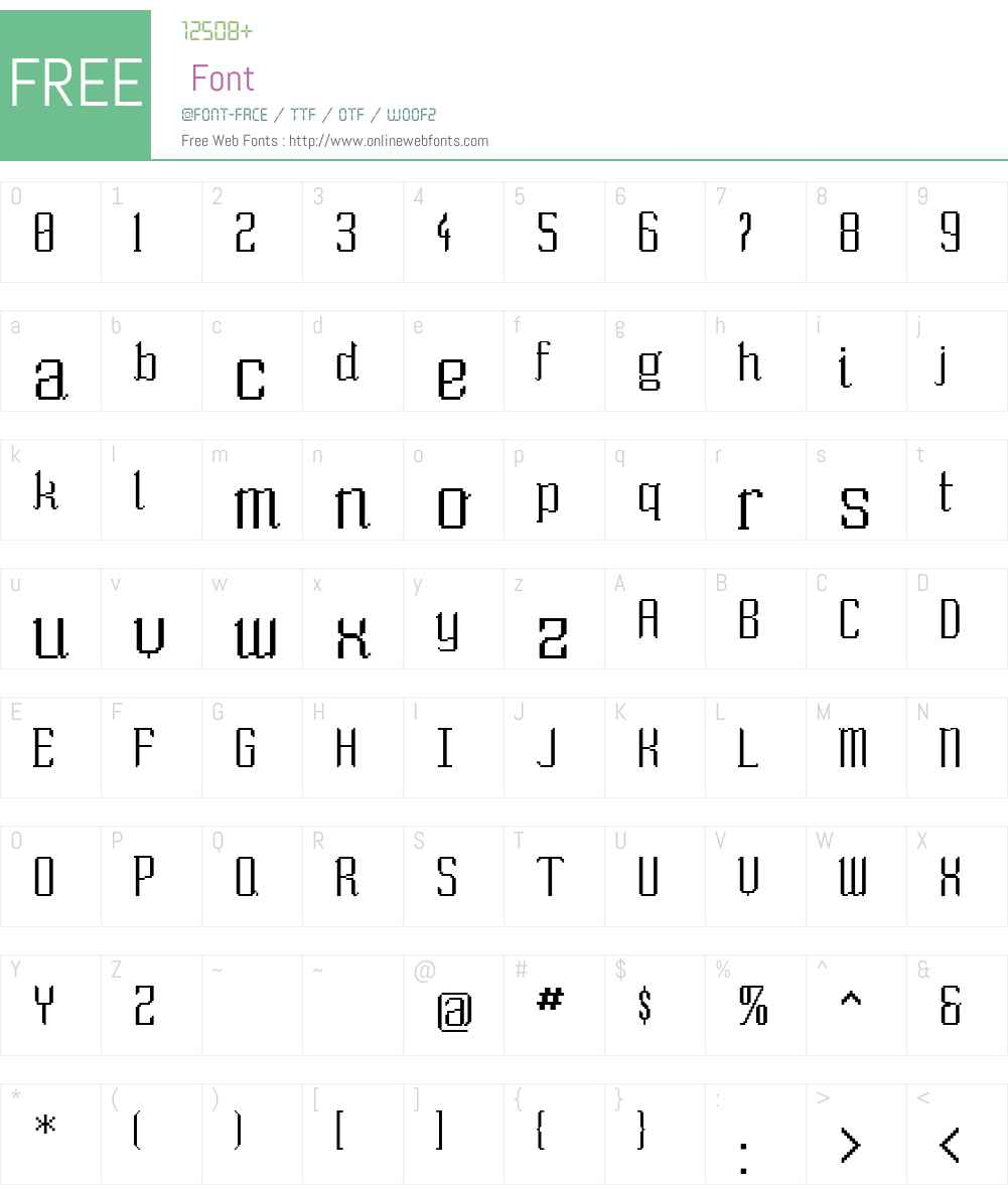 So Wide Font Screenshots
