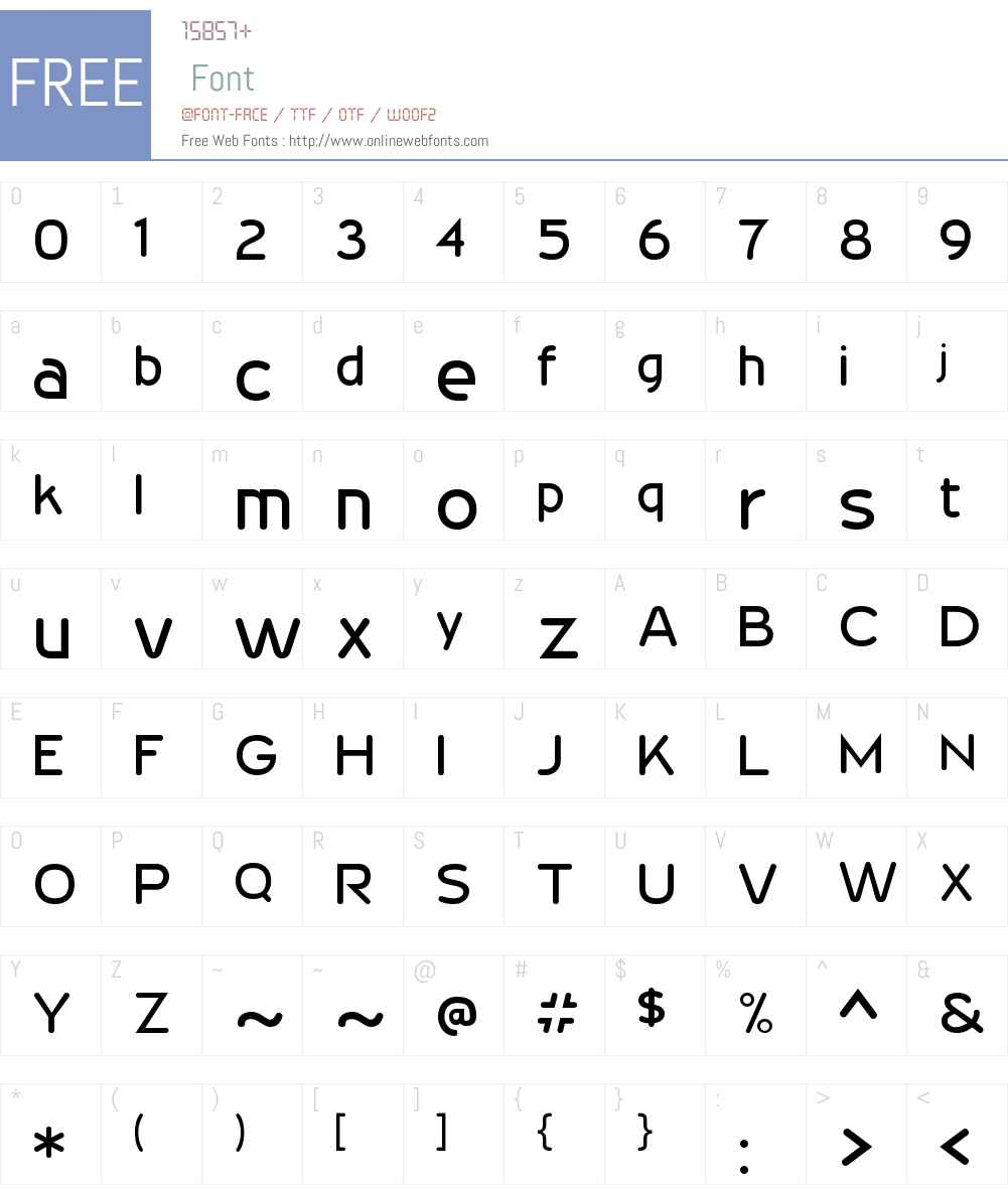 Wevli Font Screenshots