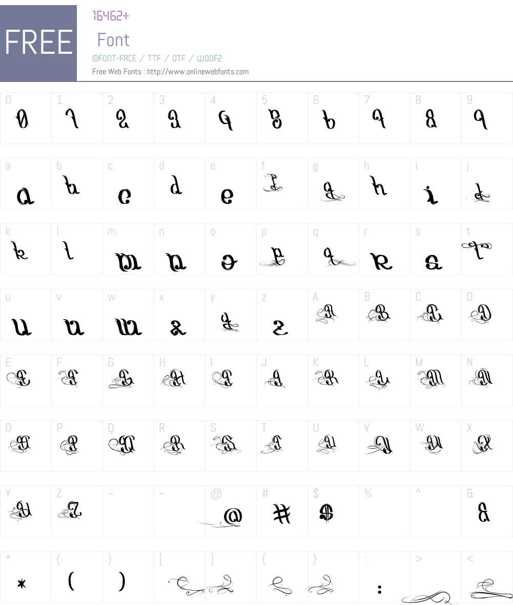Origine du Monde Font Screenshots