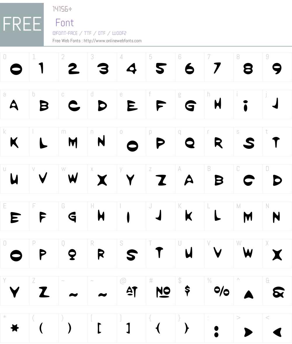 Amorpheus Font Screenshots
