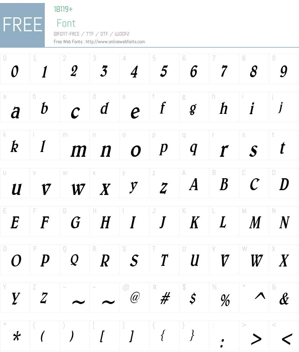 Blew Condensed Font Screenshots