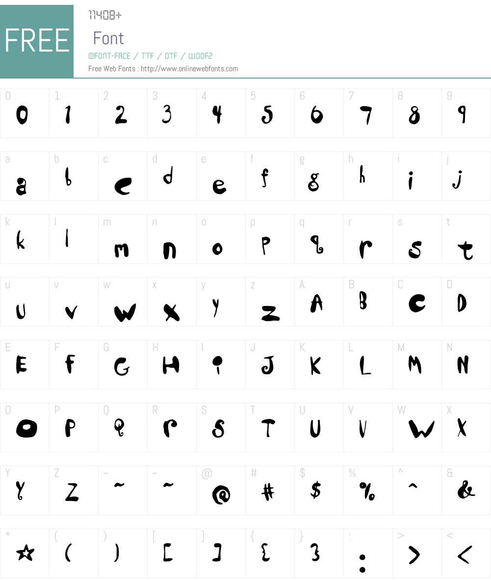 Lilla Font Screenshots