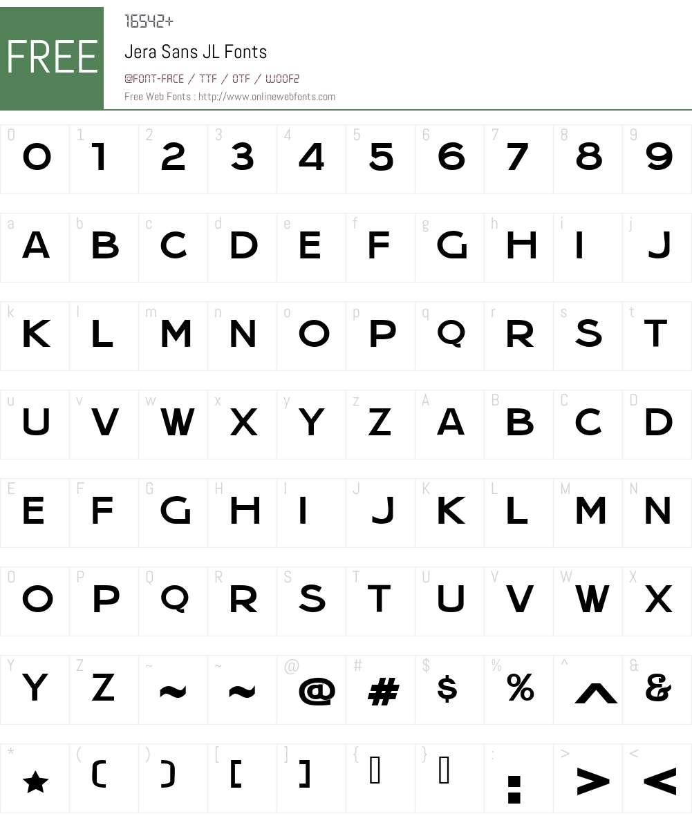 Jera Sans JL Font Screenshots