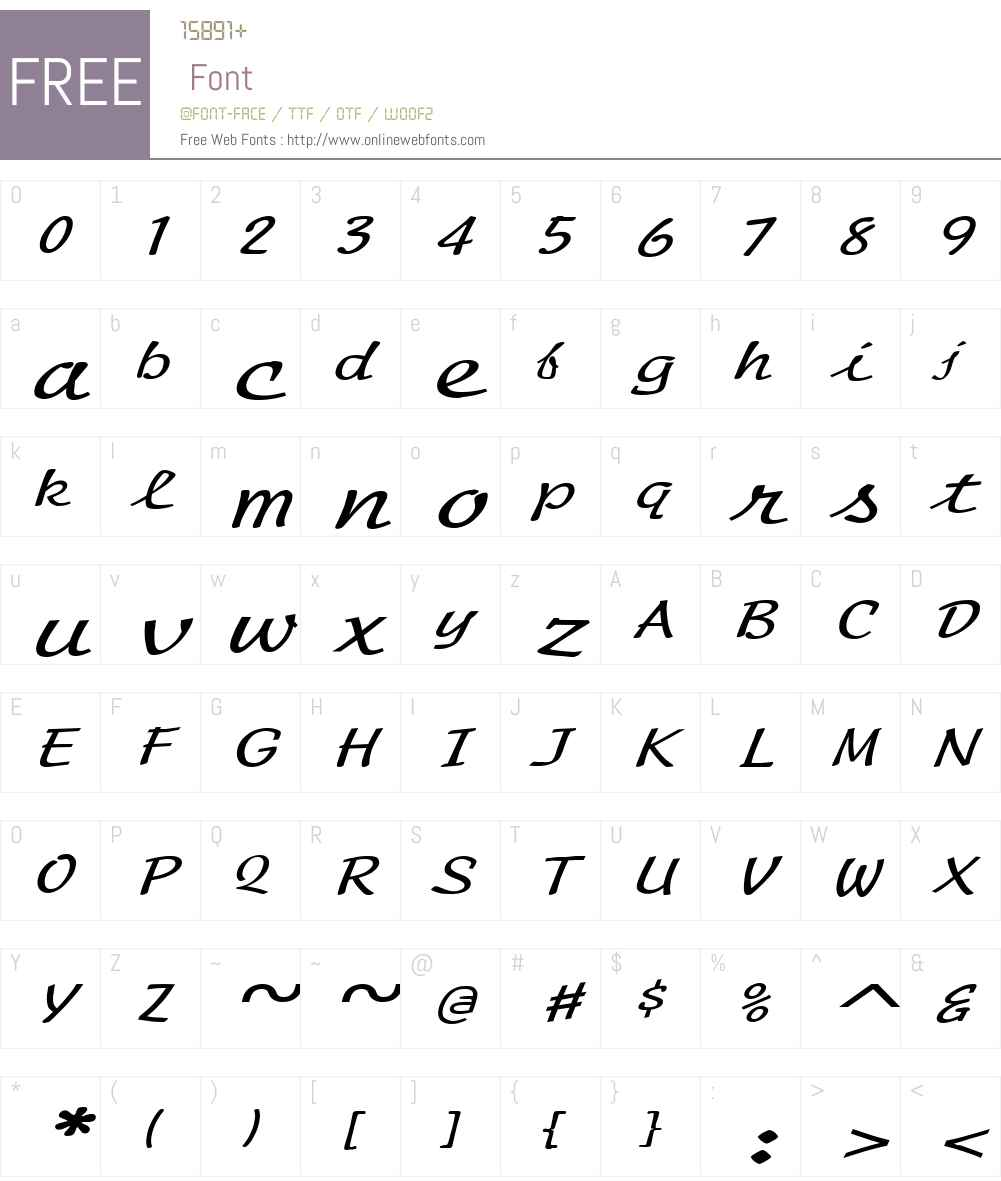 Manuscript Extended Font Screenshots