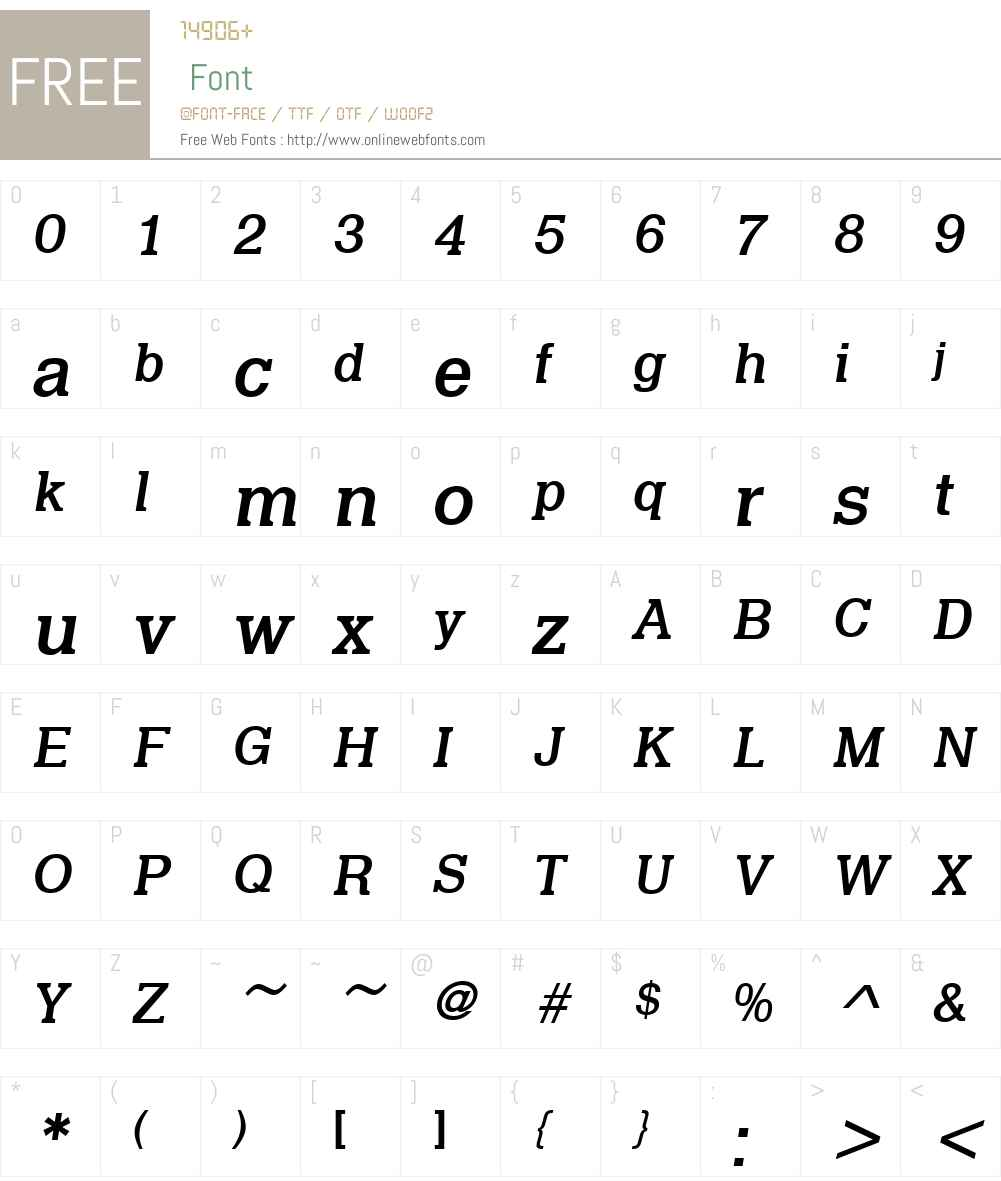 URWQuintW01-MediumItalic Font Screenshots