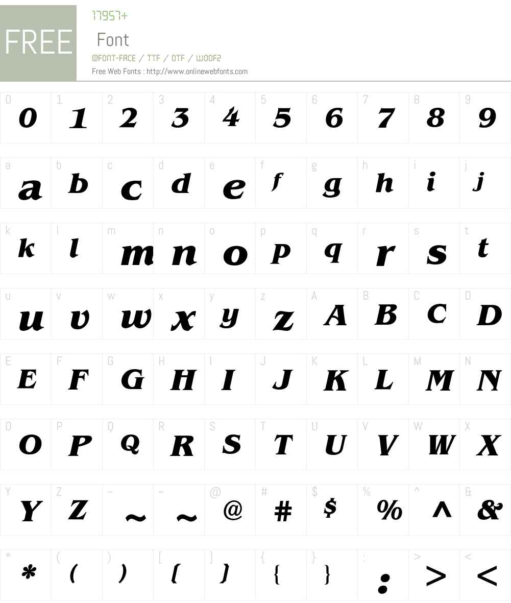 Benguiat BQ Font Screenshots