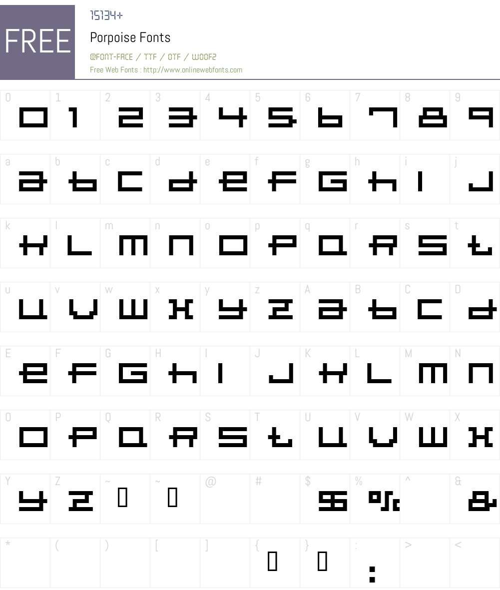 Porpoise Font Screenshots