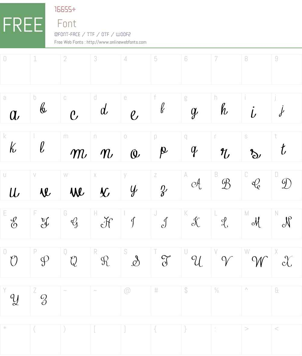 Contribute_FREE-version Font Screenshots