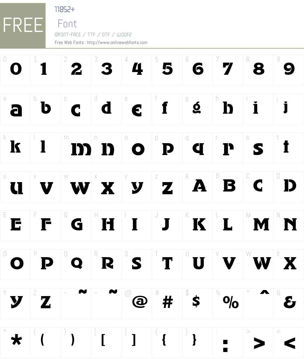 KlingonW90-Regular Font Screenshots