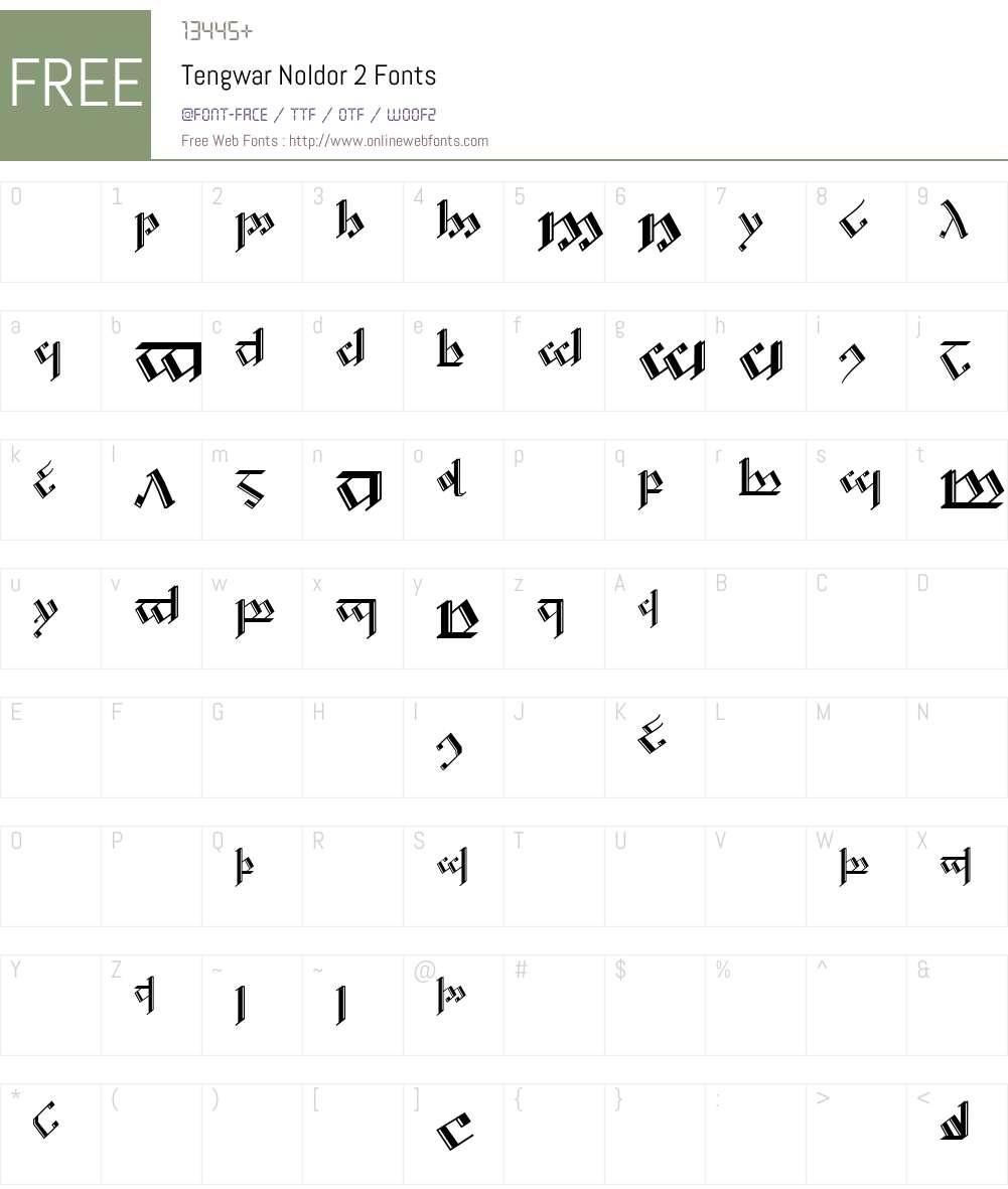 Tengwar Noldor-2 Font Screenshots