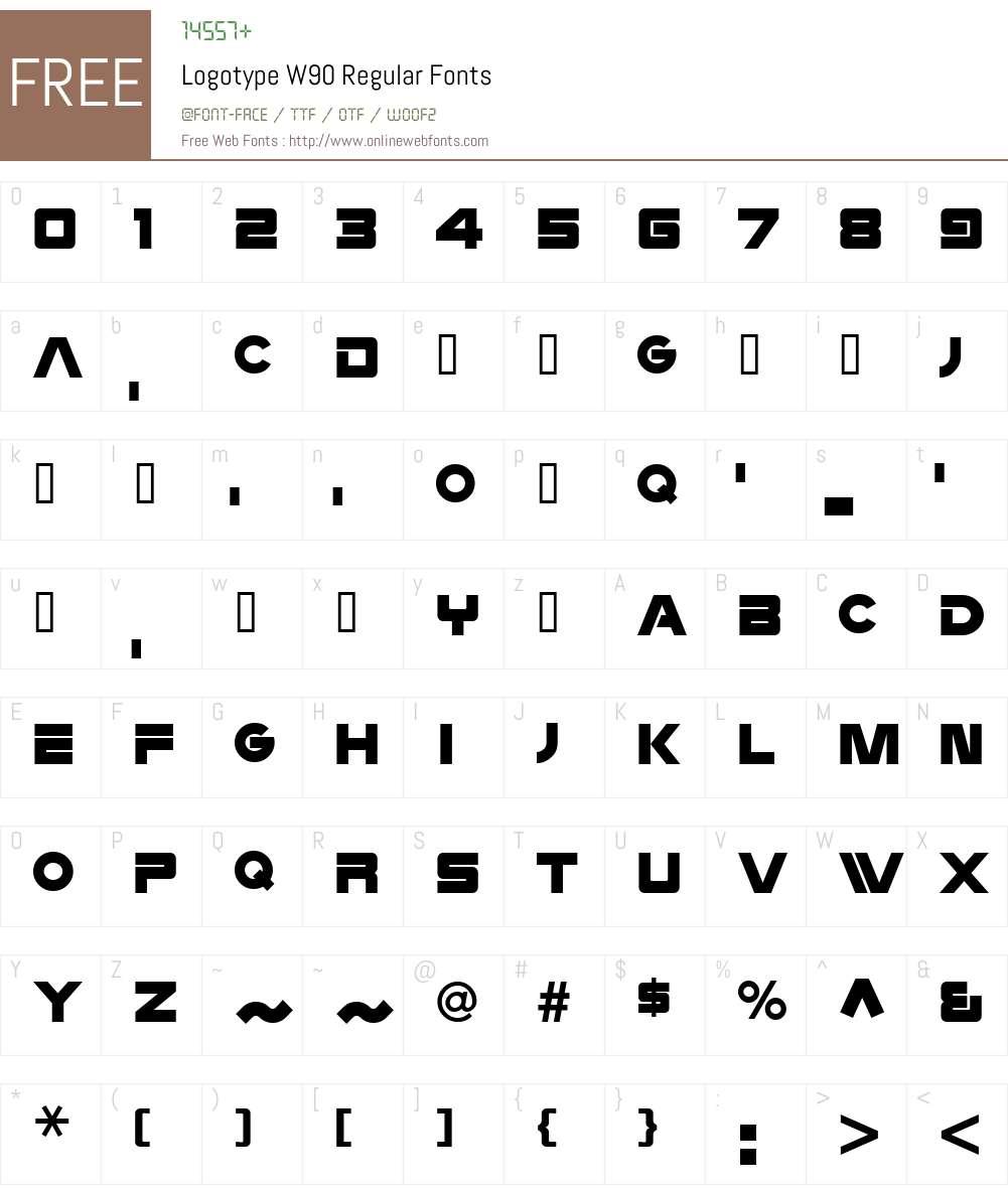 Logotype Font Screenshots