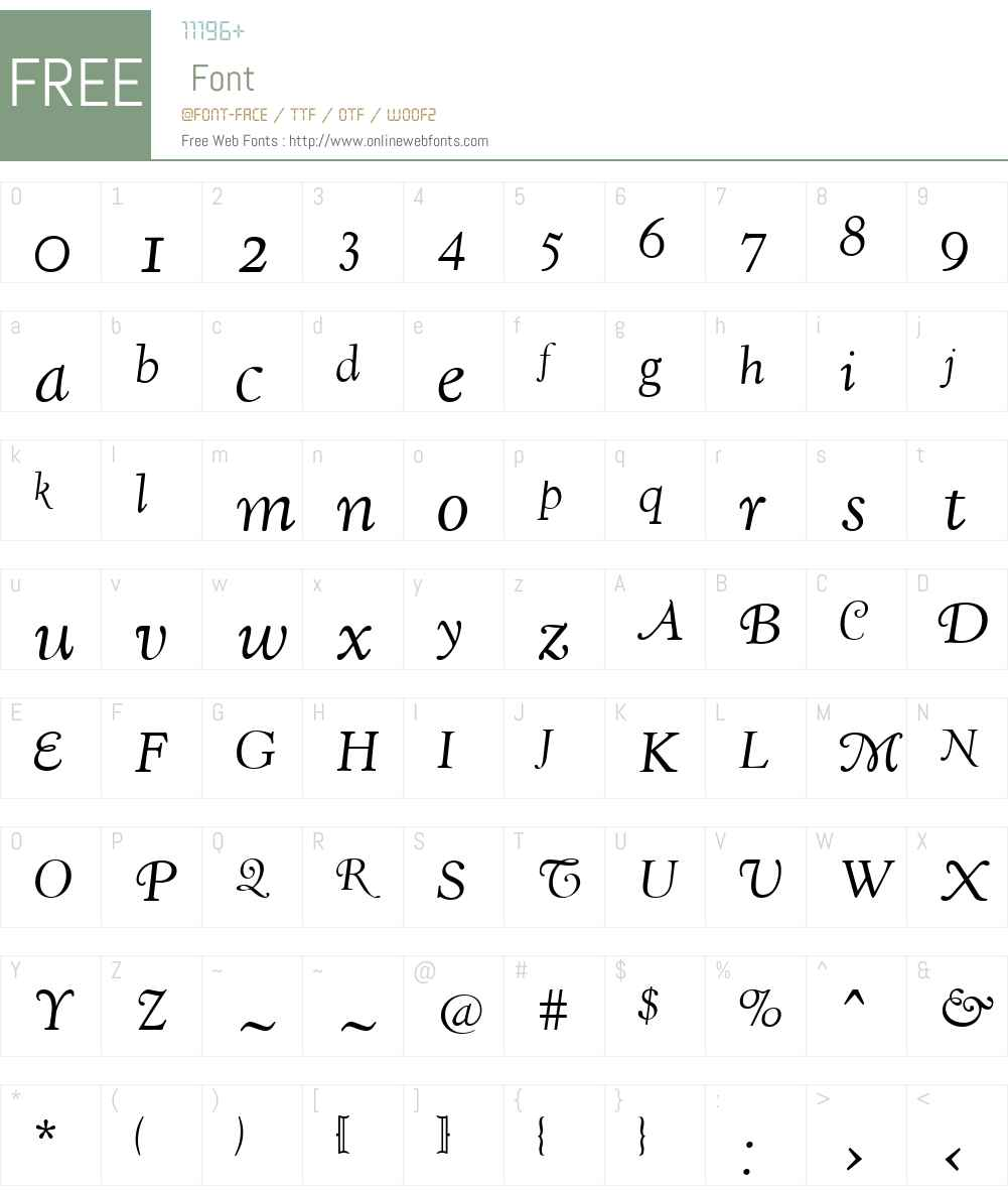 LTCKennerleyW00-Swashes Font Screenshots