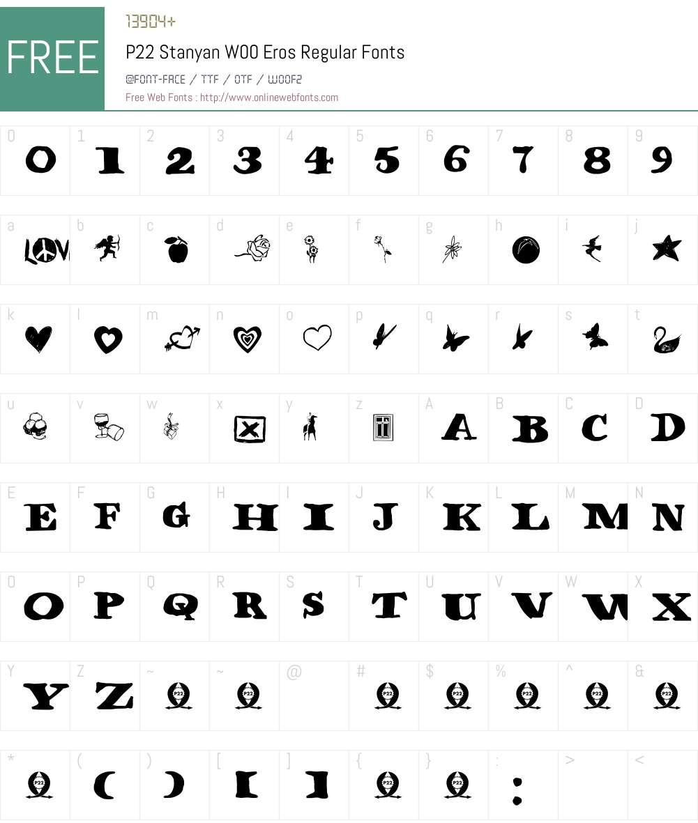 P22StanyanW00-ErosRegular Font Screenshots