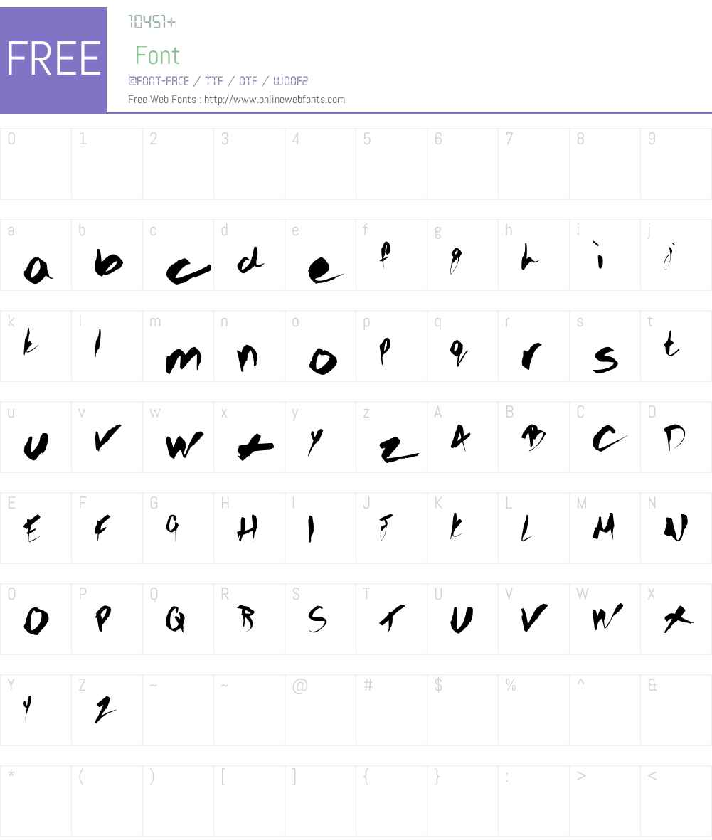 GOTHIC SCRIBBLE Font Screenshots
