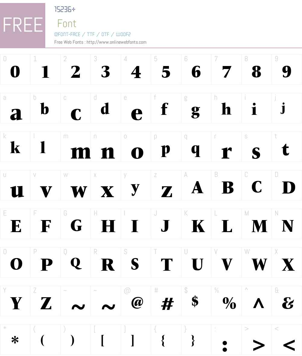ITCNewVeljovicW01-CondBlack Font Screenshots