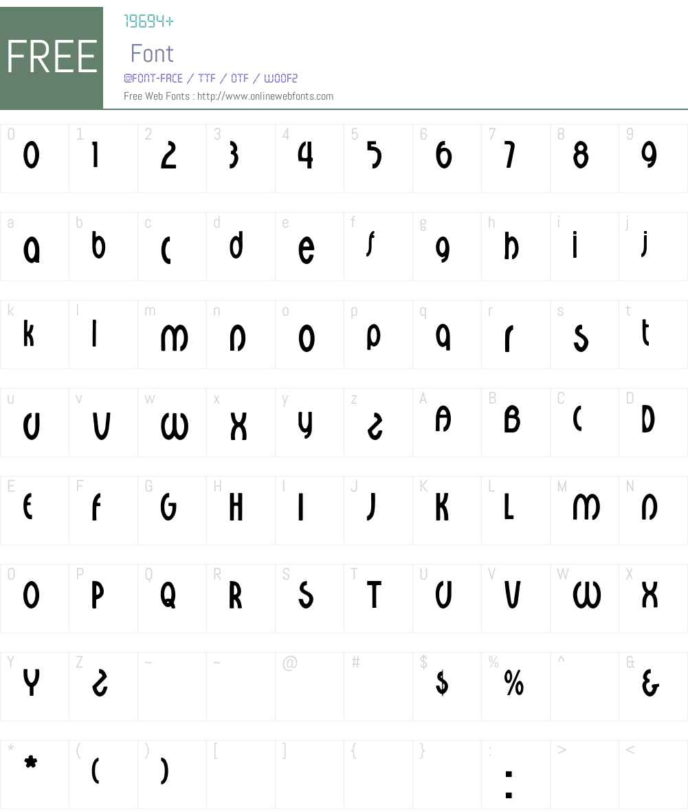 Walburga Font Screenshots
