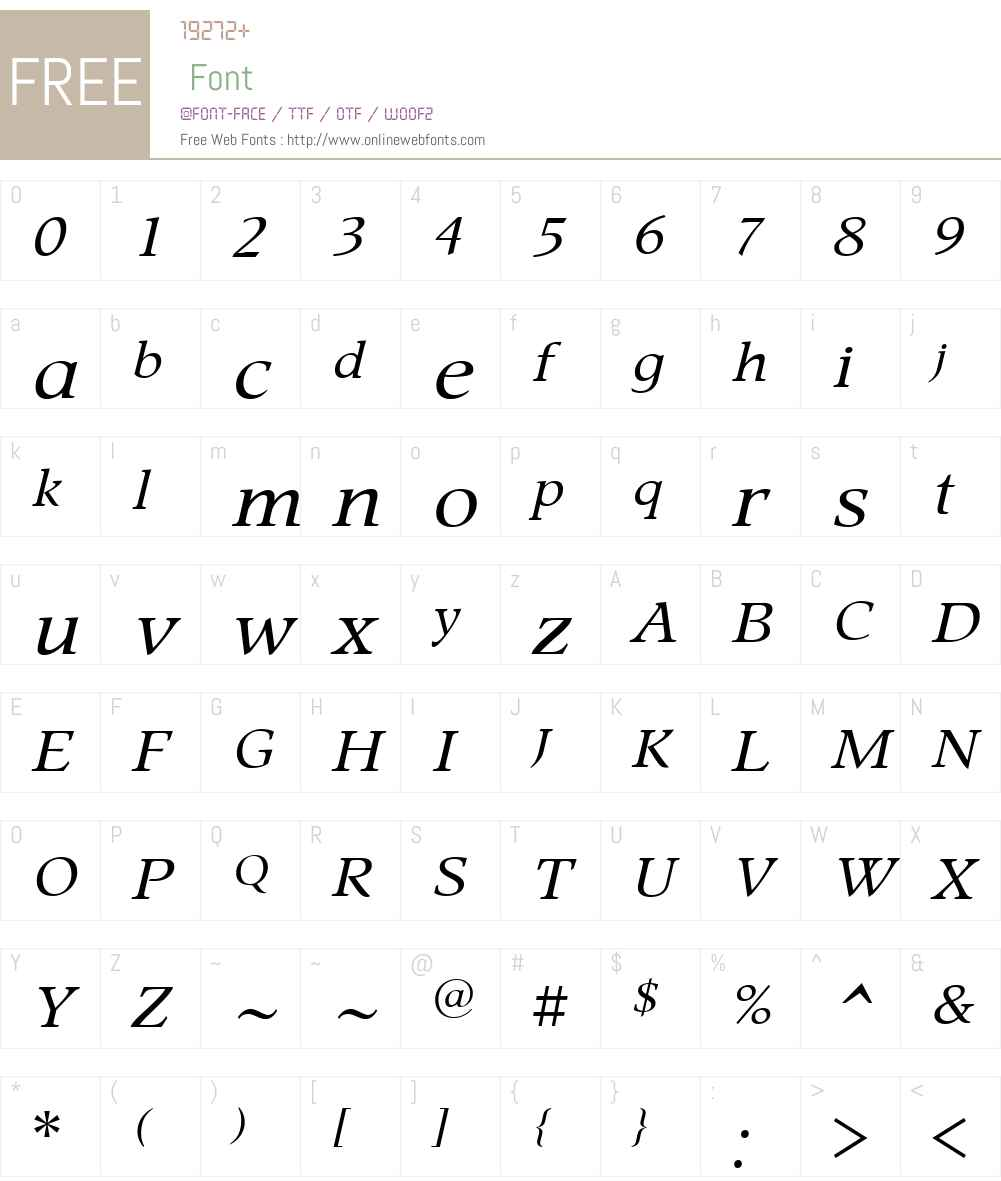 ProspectW00-Italic Font Screenshots