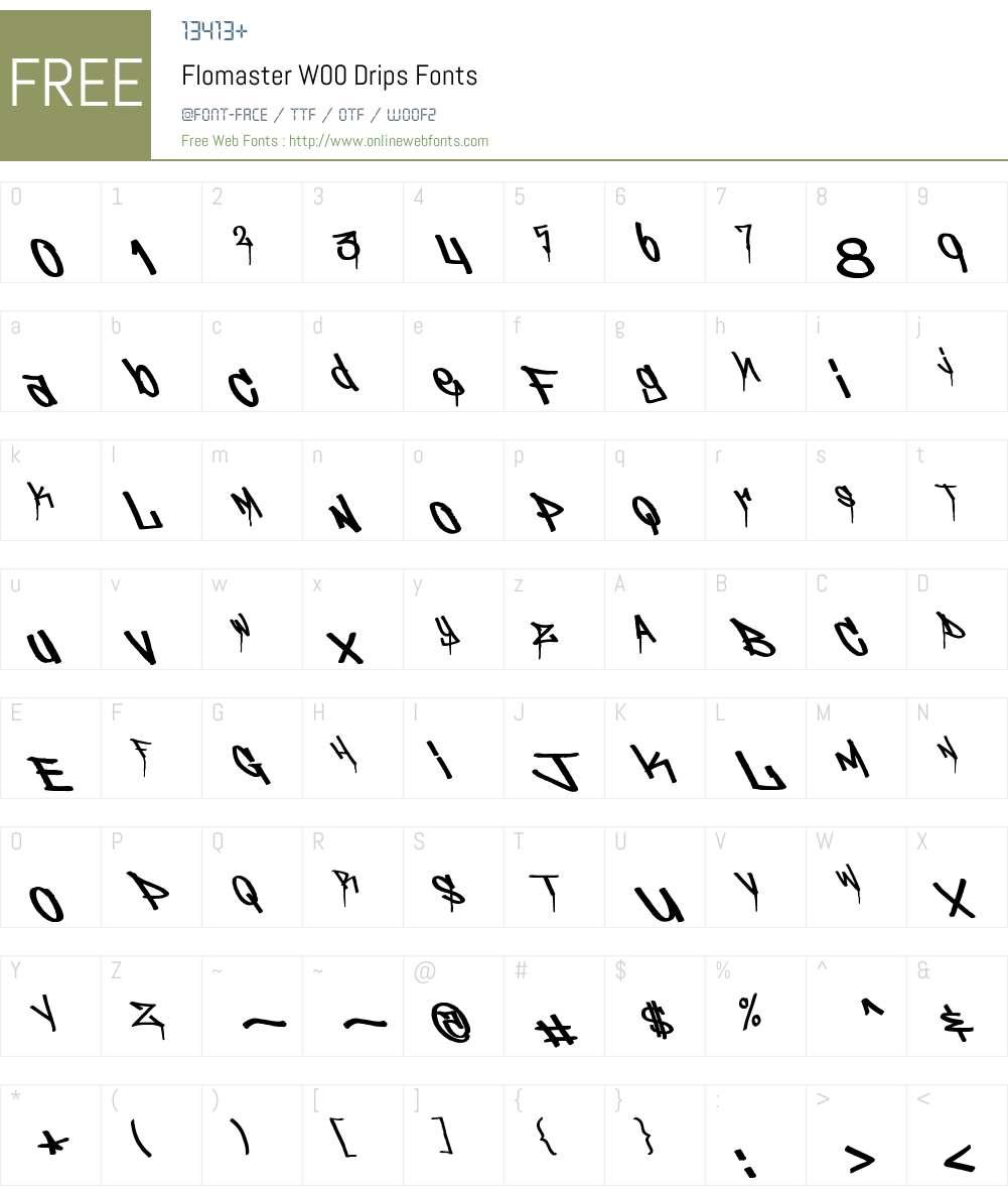 Flomaster Font Screenshots