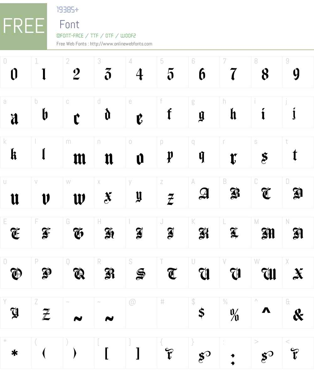 UTM Agin Font Screenshots