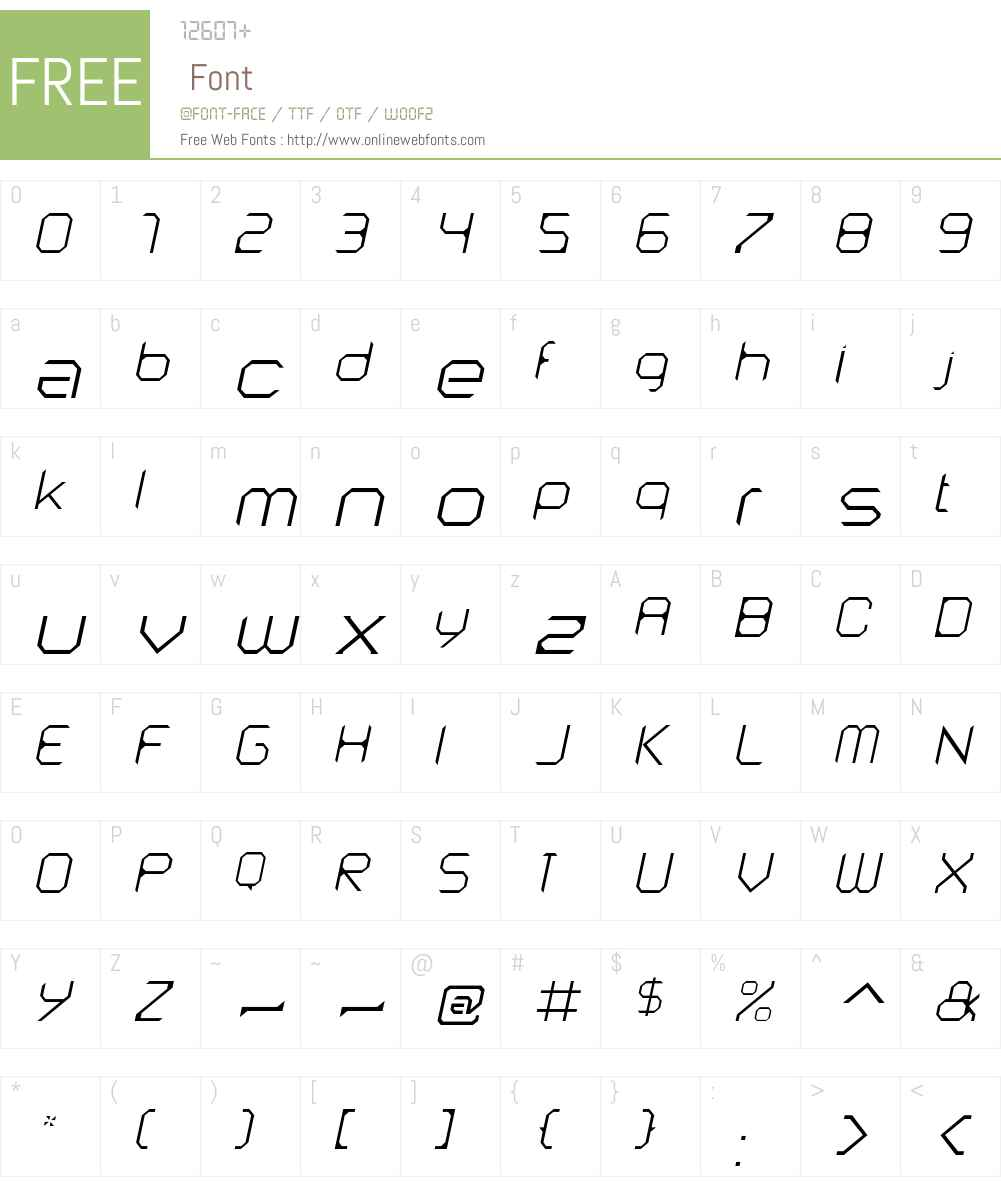 AstroNautW00-ThinItalic Font Screenshots