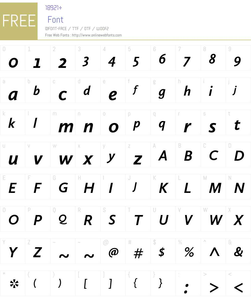 CallunaSansW01-BoldItalic Font Screenshots