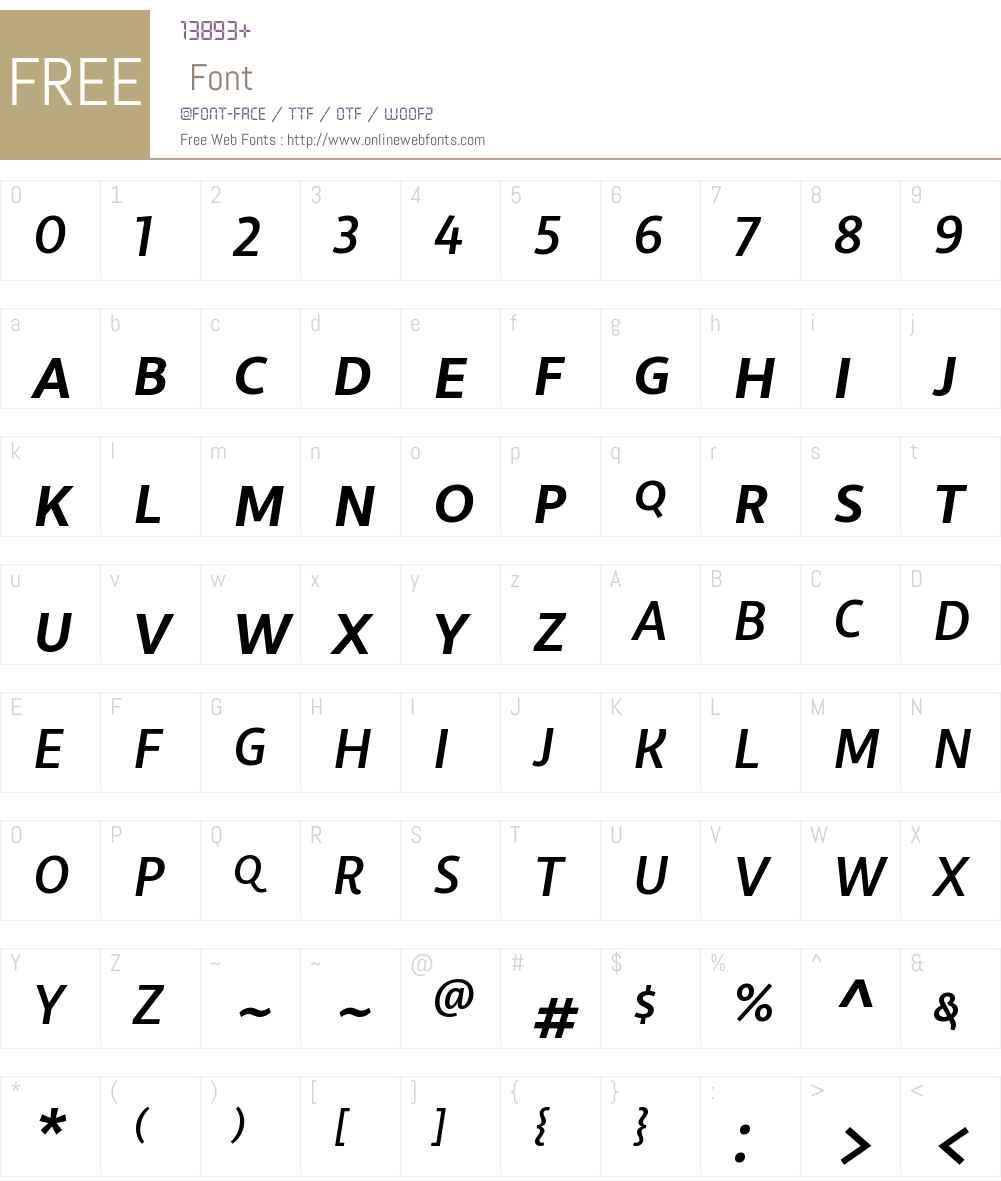 LibertadW00SC-MediumItalic Font Screenshots