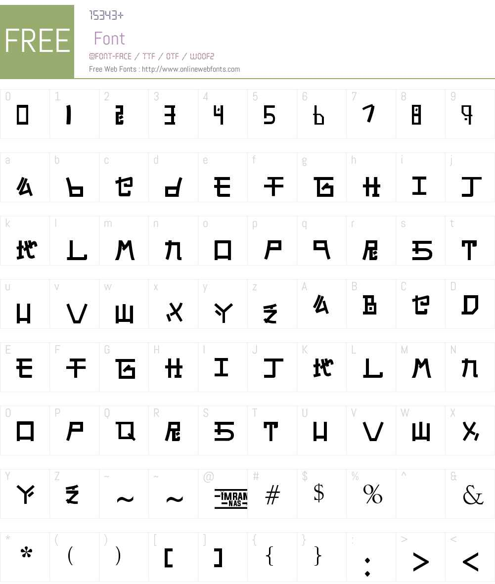 Alphabet SNK by PMPEPS Font Screenshots