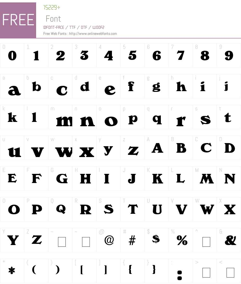 Catalego Display SSi Font Screenshots