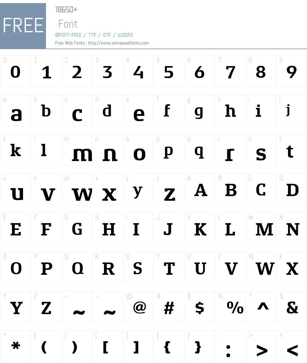 XenoisSlabW01-Bold Font Screenshots