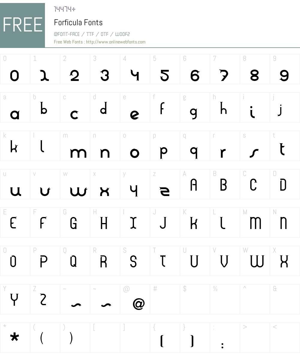 Forficula Font Screenshots