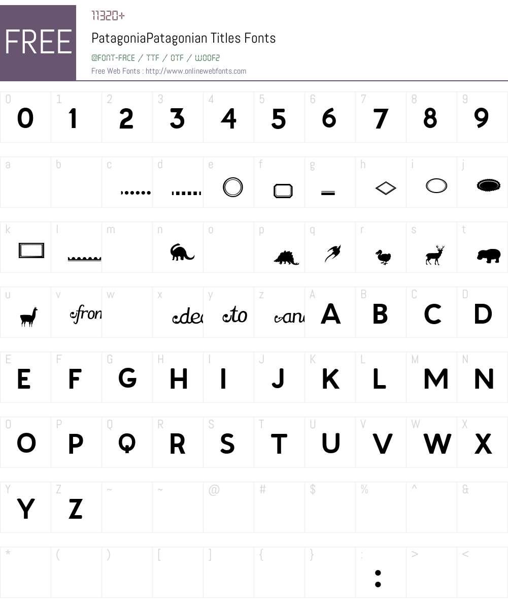 Patagonia Font Screenshots