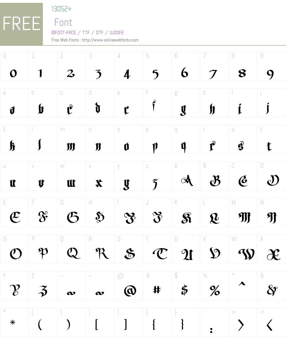HellfireBBW00-Regular Font Screenshots