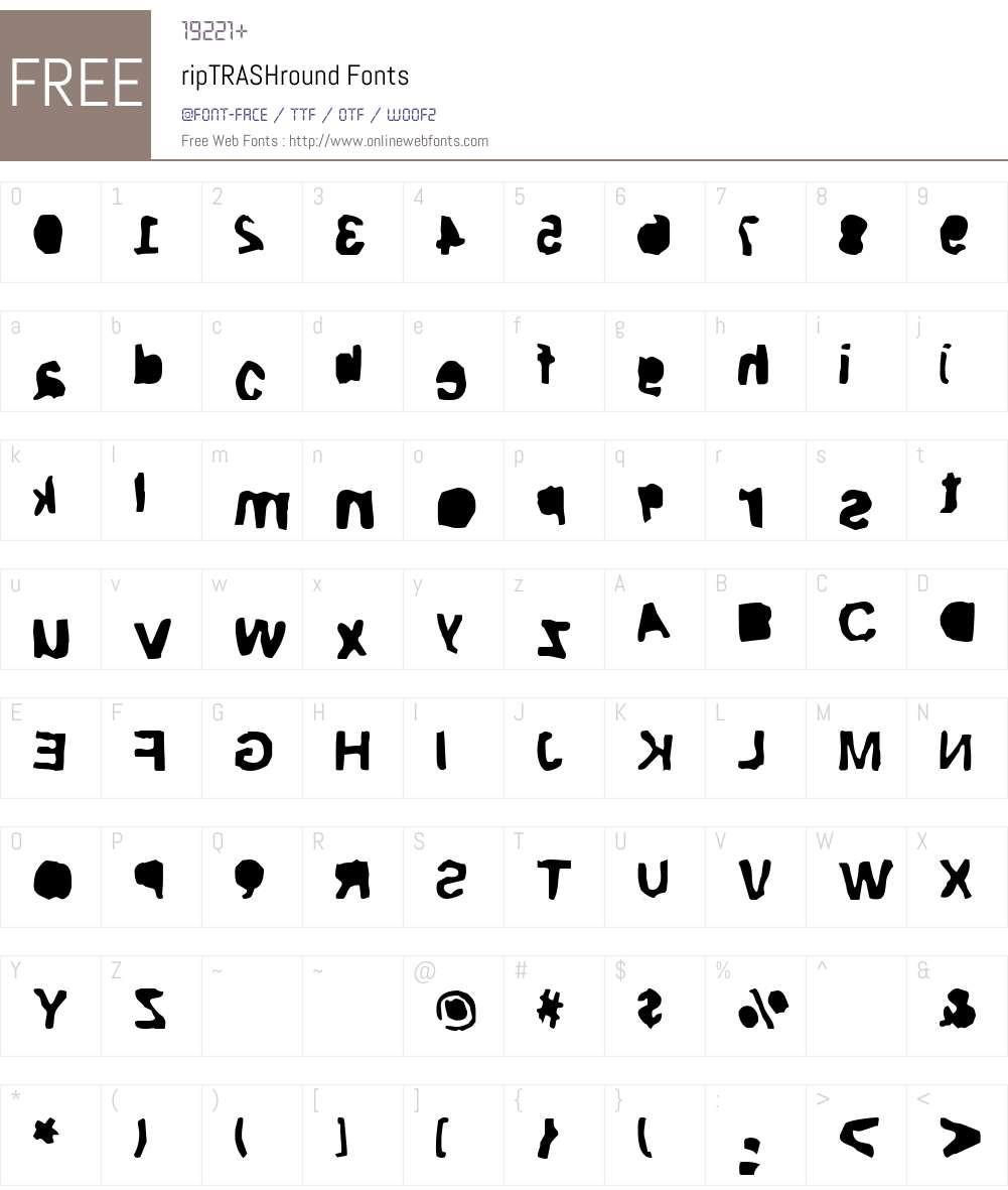 ripTRASHround Font Screenshots