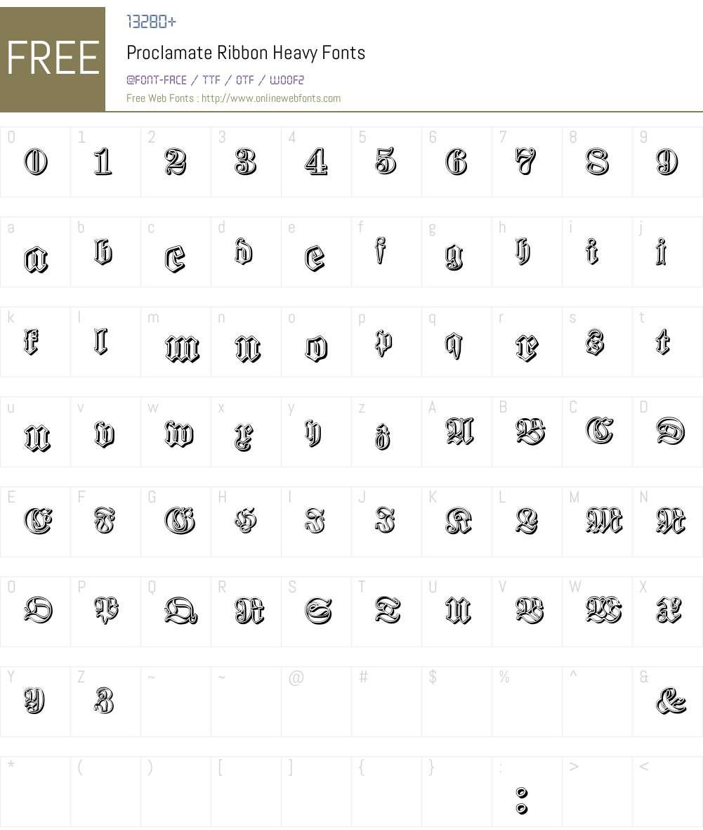 Proclamate Ribbon Font Screenshots