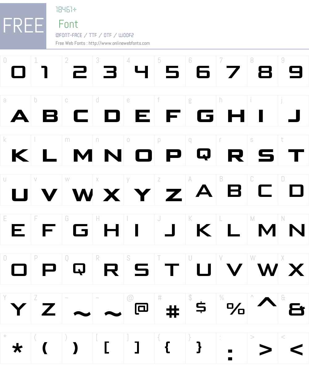 BunkenTechSansSCWideW01-Bd Font Screenshots