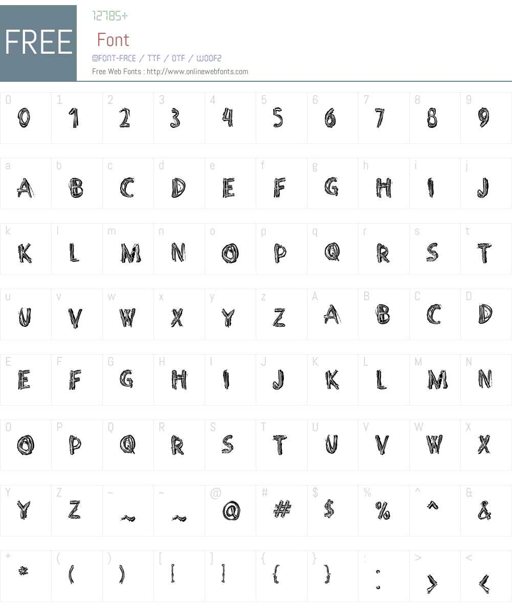 PunkerroW01-Crust Font Screenshots
