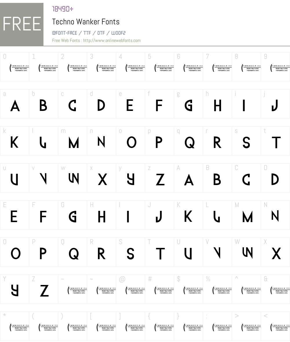 Techno Wanker Font Screenshots