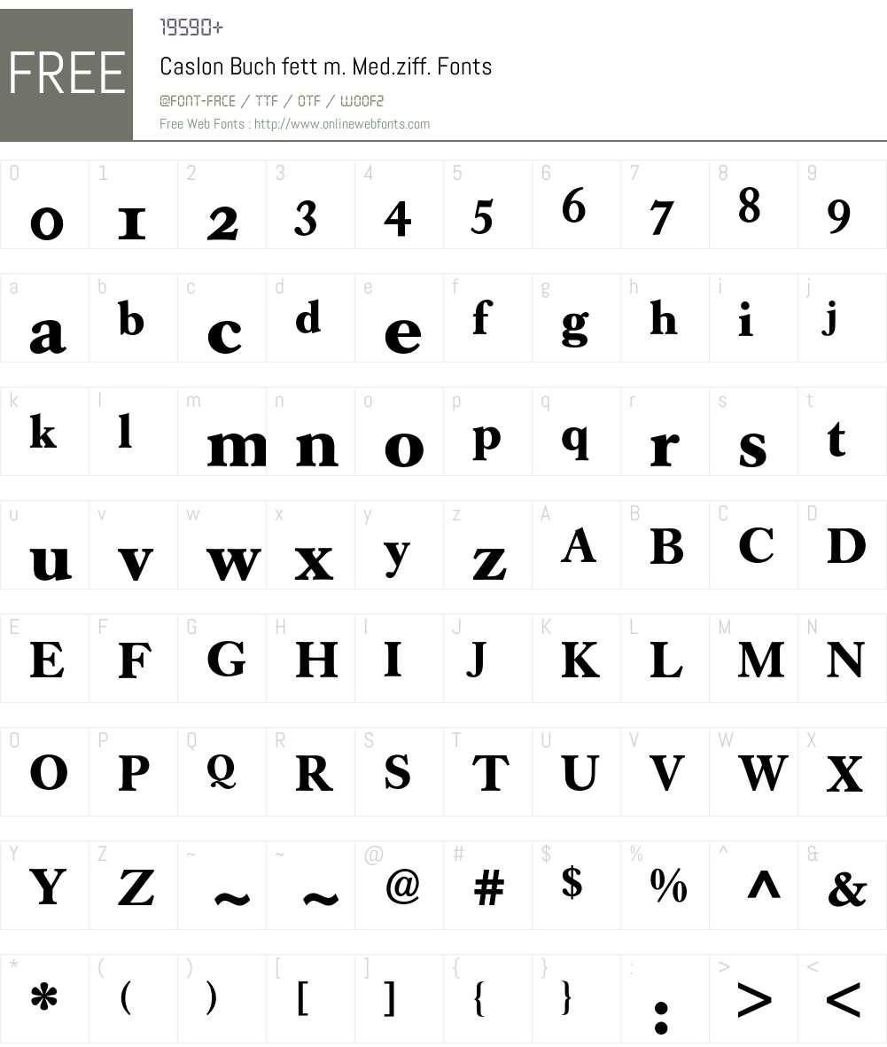 Caslon Buch Expert BQ Font Screenshots