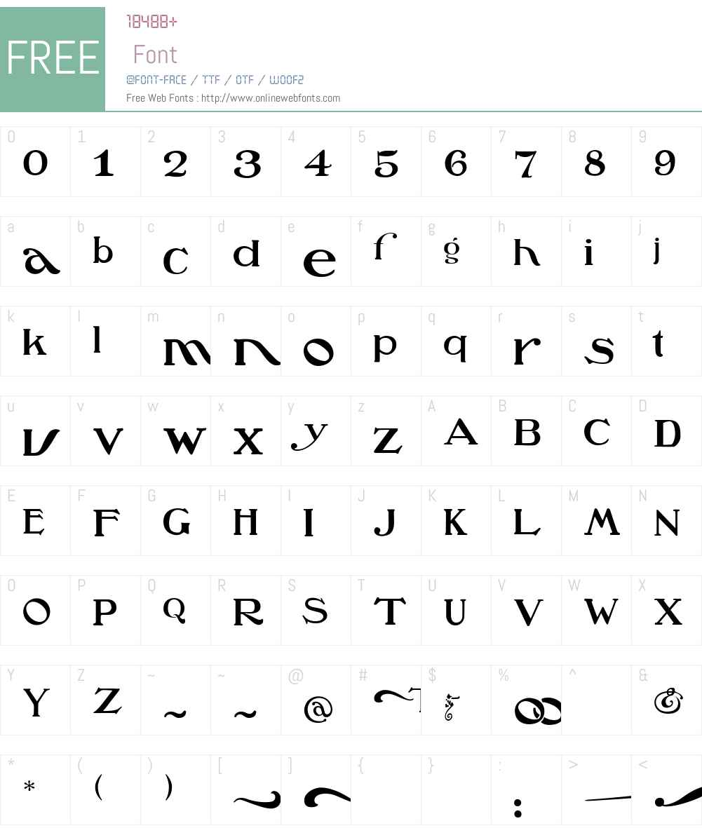 Oz'sWizard Font Screenshots