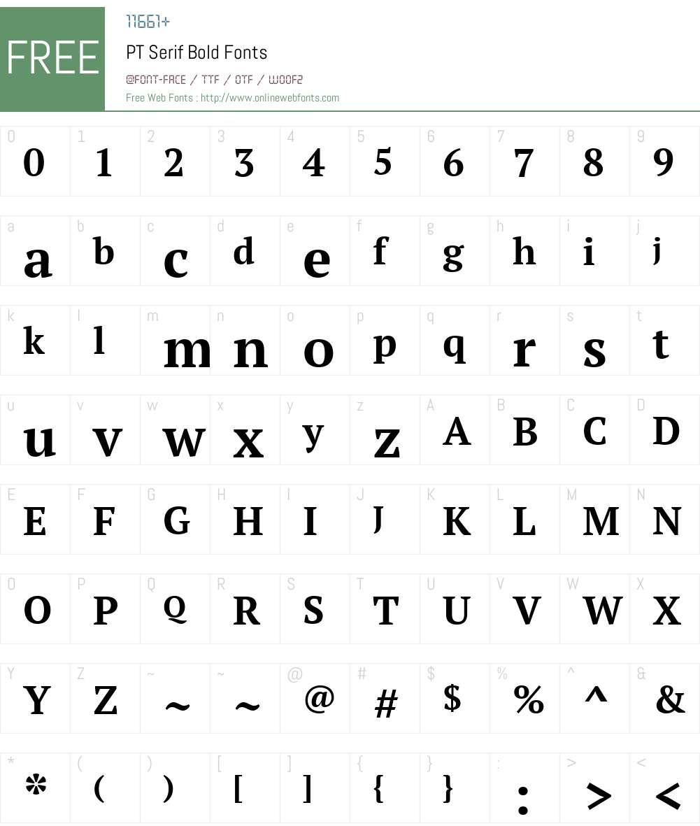 PT Serif Font Screenshots